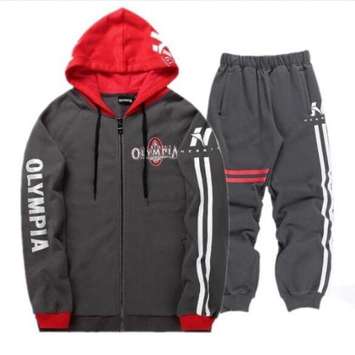 Sportswear Tracksuits Men Sets Running Gym Tracksuit Fitness Body Building Mens Hoodies+Pants Jogger-Mens Sets-The gym fighting beast Store-1-M-EpicWorldStore.com