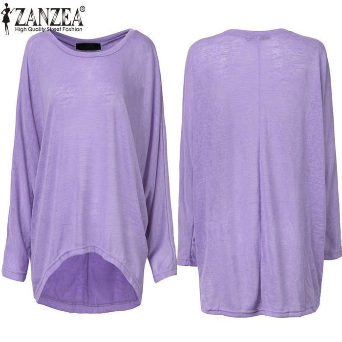 Spring Autumn Women Blouse New Batwing Long Sleeve Casual Loose Solid Color Shirt-Blouses & Shirts-Romeo & Juliet Clothes Store-Beige-S-EpicWorldStore.com
