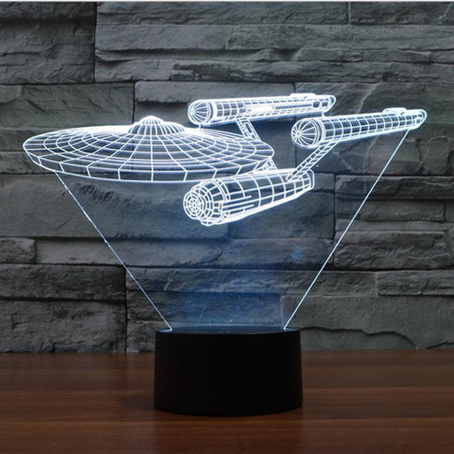 Star Trek Uss Enterprise 3D Led Night Light 7 Colors Touch Switch Table Desk Lamp For Children-Novelty Lighting-Shopping here Store-EpicWorldStore.com