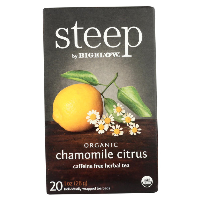 Steep By Bigelow Organic Herbal Tea - Chamomile Citrus - Case Of 6 - 20 Bags-Eco-Friendly Home & Grocery-Steep By Bigelow-EpicWorldStore.com