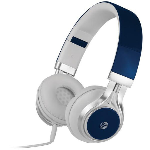 Stereo Over-Ear Headphones With Microphone (Blue)-Portable & Personal Electronics-AT&T(R)-EpicWorldStore.com
