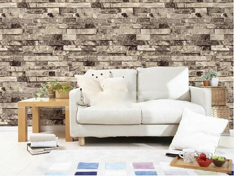 Stone Brick 3D Wallpaper Bedroom Living Room Background Wall Vinyl Retro  Wall Paper Roll Rustic Faux