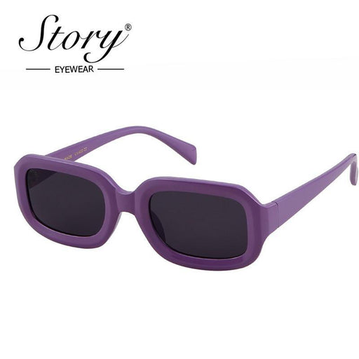Story Vintage Retro Purple Square Sunglasses Women Small Rectangle Sun Glasses Big-Sunglasses-STORY Boutique Store-C1-EpicWorldStore.com