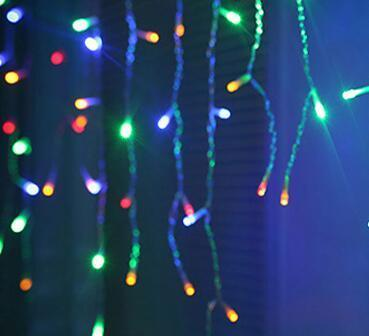 Christmas Outdoor Lights.String Lights Christmas Outdoor Decoration 5m Droop 0 4 0 6m Curtain Icicle String Led Lights Eu