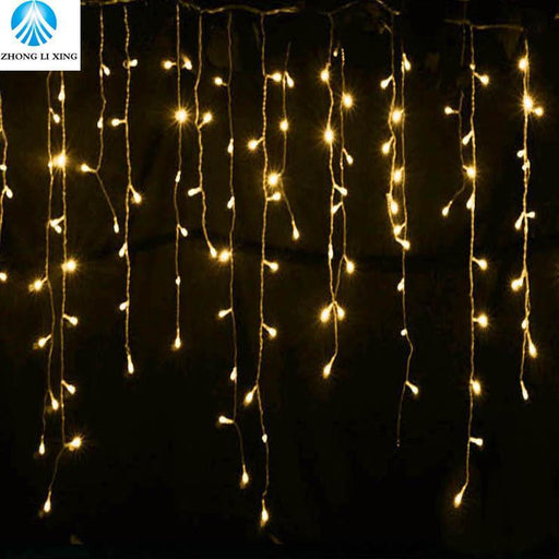 String Lights Christmas Outdoor Decoration 5M Droop 0.4-0.6M Curtain Icicle String Led Lights Eu-Holiday Lighting-ZHONGLIXING lighting5 store-5m 96leds-EpicWorldStore.com