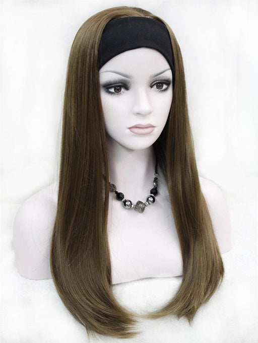 Strong Beauty Long Synthetic Straight Full Capless Wigs Half Ladies' 3/4 Wig With Headband Wig-kerry ji's store-#1-EpicWorldStore.com