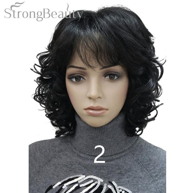 Strong Beauty Medium Short Curly Wigs Synthetic
