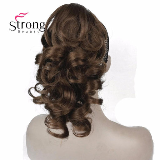 "Strongbeauty 12"" Curly Synthetic Clip In Claw Ponytail Hair Extension Synthetic Hairpiece 125G-weiwei liu's store-Natural Color-EpicWorldStore.com"