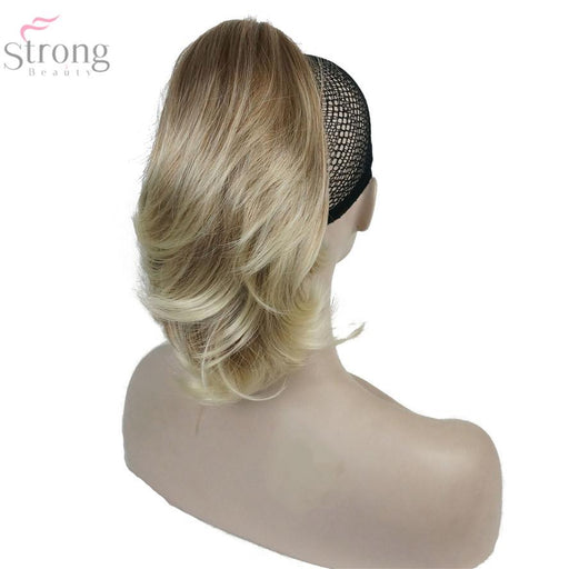 "Strongbeauty 20 Color 12"" Dual Use Straight Styled Clip In Claw Ponytail Hair Extension Synthetic-StrongBeauty Official Store-Natural Color-EpicWorldStore.com"