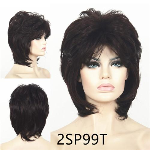 Strongbeauty Short Shag Hairstyles Hair For Women Natural Fluffy ...