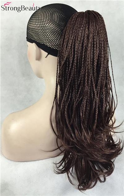 Strongbeauty Synthetic Wavy Hair Braid Drawstring Ponytail Clip In/On Hair Extensions Hairpieces-kerry ji's store-Natural Color-EpicWorldStore.com