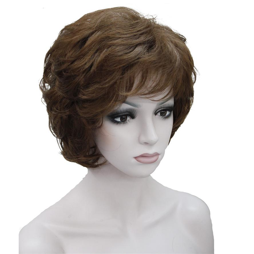 Strongbeauty Womens Wigs Black Brown Natural Short Curly Hair Synthetic  Full Wig 18 Color- 6b0a690e0