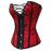 Stylish Red Waist Trainer Corsets And Bustiers Lace Up Corset Top For Wedding Dress Plus Size-Bustiers & Corsets-Fill Your Cart-Red-S-EpicWorldStore.com