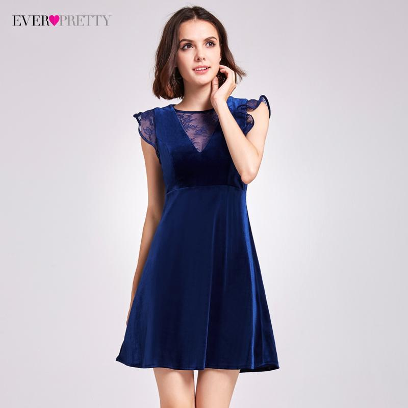 Stylish Velvet Cocktail Dresses Ever Pretty As05897 A-Line Mini V-Neck Cocktail  Party de3b2dbd5