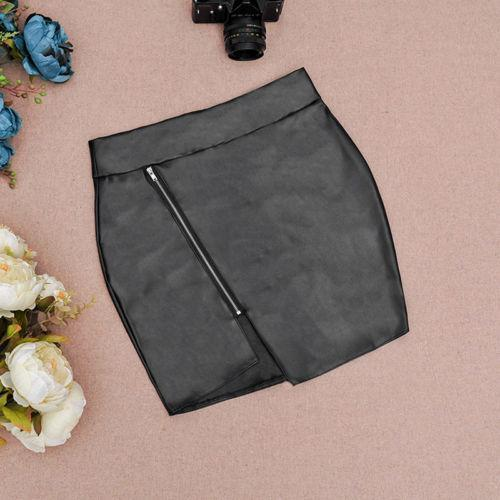 Stylish Women Bodycon Skirt Top Quality Pu Leather Mini Short Skirt Black Clasical Style Design-Bottoms-northfashion-Black-S-EpicWorldStore.com