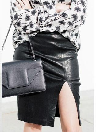 Stylish Women Bodycon Skirt Top Quality Pu Leather Mini Short Skirt Black Clasical Style Design-Bottoms-northfashion-Blue-S-EpicWorldStore.com