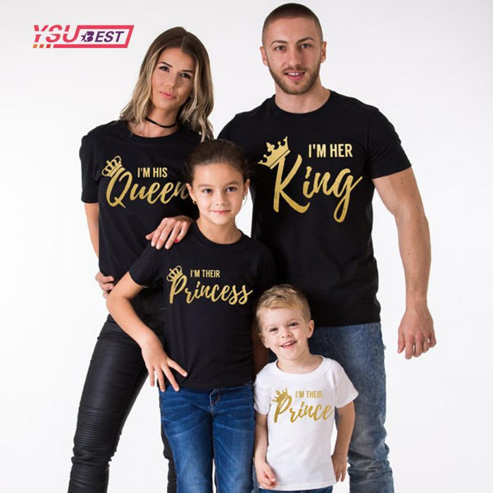 573d17834497 Summer Family Matching Outfits Matching Father Mother Daughter Son Clothes  Cotton Short Sleeve-Family Matching