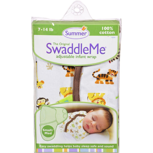 Summer Infant Swaddleme Adjustable Infant Wrap - Small-Medium 7 - 14 Lbs - Jungle White-Eco-Friendly Home & Grocery-Summer Infant-EpicWorldStore.com