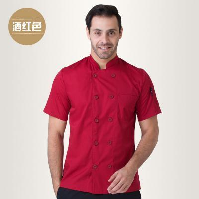 Summer Short Sleeve Chefs Uniform Breathable Net Chef Shirt New Special Mesh Cool Chef White-Work Wear & Uniforms-Yuxuan Fashion Store-Red-S-EpicWorldStore.com