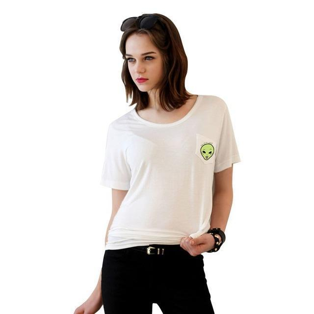 Summer T-Shirt Women Casual Lady Top Tees Cotton Tshirt Female Brand Clothing T Shirt Printed-Tops & Tees-JUNYQ Official Store-wai xin bai 3-XS-EpicWorldStore.com