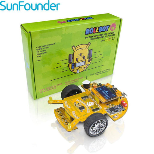Sunfounder Sf-Rollbot Programming Smart Car Kit With Bluetooth Module Line Following Module For Kids-High Tech Toys-SUNFOUNDER RC Toy Store-EpicWorldStore.com