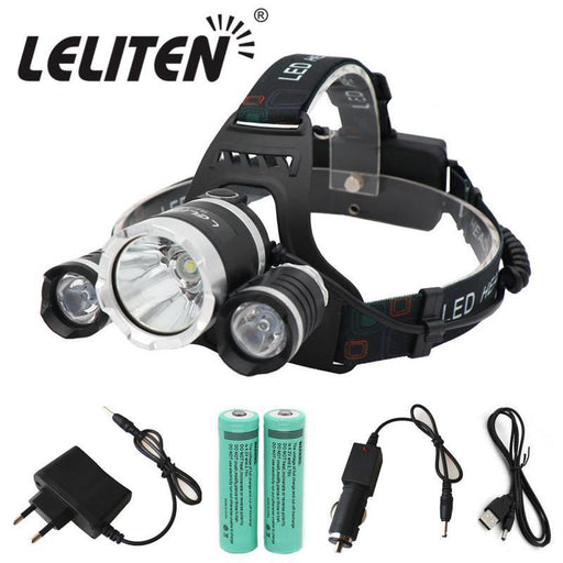 Super Bright Rechargeable Camping Lantern 15000Lm Xml-T6+2Xr5 Led Headlamp Fishing Headlights Use 2X-Portable Lighting-LELITEN Official Store-A Pack-Only Headlamp-EpicWorldStore.com