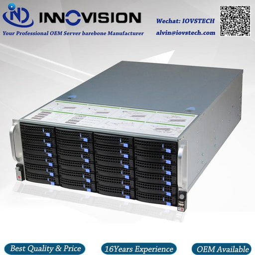 Super Huge Storage 24 Bays 4U Hotswap Rack Nvr Nas Server Chassis S46524-Desktops & Servers-INNOVISION TECH IPC Exclusive E-Store-EpicWorldStore.com