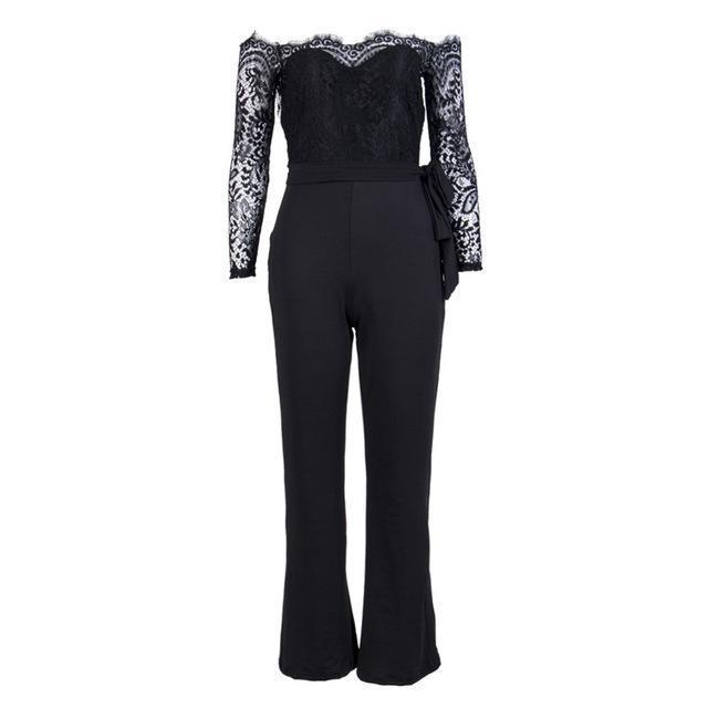 e2d901d481 Super Spring Summer Jumpsuits Women High Quality Lace Patchwork Embroidery  Stylish Party-Jumpsuits-Women