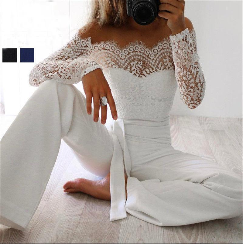 cc0774af0b6b Super Spring Summer Jumpsuits Women High Quality Lace Patchwork Embroidery  Stylish Party-Jumpsuits-Women