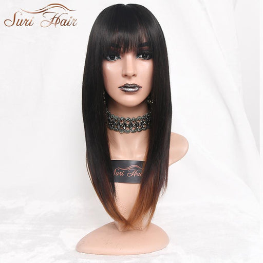"Suri Hair 22"" Ombre Straight Synthetic Wigs For African American Women Long Black Mixed Brown Two-suri hair Official Store-T1B/4/30-EpicWorldStore.com"