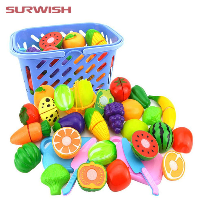 Hot Sale 24 Pcs/ Set Plastic Fruit Vegetable Kitchen Cutting Toys Early Development And Education Toy For Baby Kids Children Buy Now Toys & Hobbies