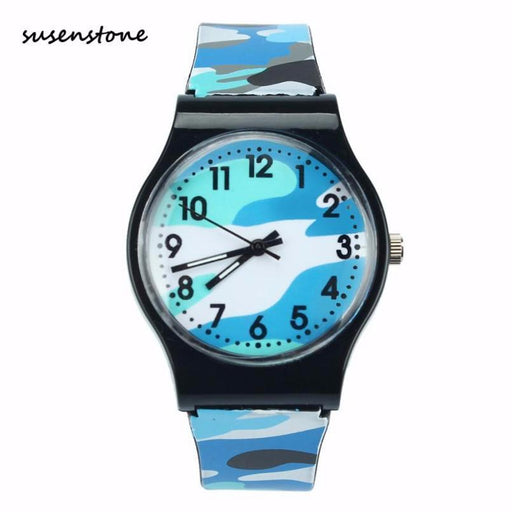 Susenstone New Casual Kids Watch Camouflage Children Quartz Wristwatch Girl Boy Clock Kids-Children's Watches-Timer Manager Store-Blue-EpicWorldStore.com