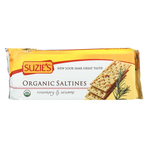 Suzie'S Organic Saltines - Rosemary And Sesame - Case Of 12 - 8.8 Oz.-Eco-Friendly Home & Grocery-Suzie's-EpicWorldStore.com
