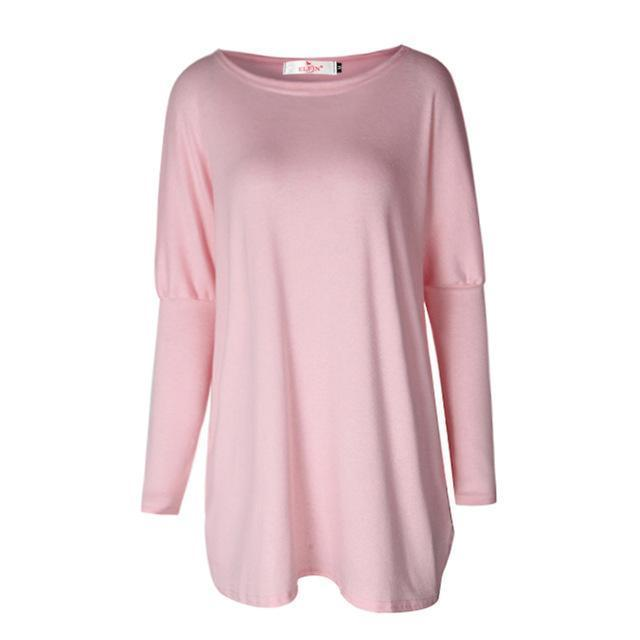 Sweater Tops Women Autumn Winter Long Sleeve Plus Size Pullovers Elegant Women Loose Female-Sweaters-Tiffanyfashion Store-Pink-S-EpicWorldStore.com
