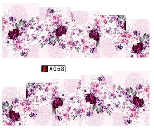 Sweet Trend 1Sheet Rose Flower Nail Art Water Transfer Stickers Decals Tip Decoration Diy-Nails & Tools-SWEETTREND nail art Store-A058-EpicWorldStore.com