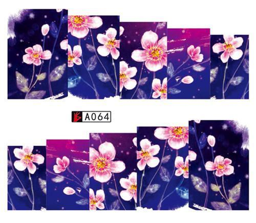 Sweet Trend 1Sheet Rose Flower Nail Art Water Transfer Stickers Decals Tip Decoration Diy-Nails & Tools-SWEETTREND nail art Store-A064-EpicWorldStore.com