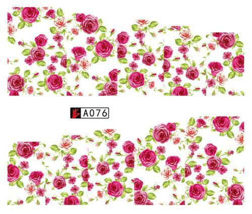 Sweet Trend 1Sheet Rose Flower Nail Art Water Transfer Stickers Decals Tip Decoration Diy-Nails & Tools-SWEETTREND nail art Store-A076-EpicWorldStore.com