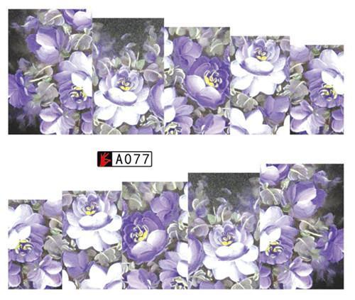 Sweet Trend 1Sheet Rose Flower Nail Art Water Transfer Stickers Decals Tip Decoration Diy-Nails & Tools-SWEETTREND nail art Store-A077-EpicWorldStore.com