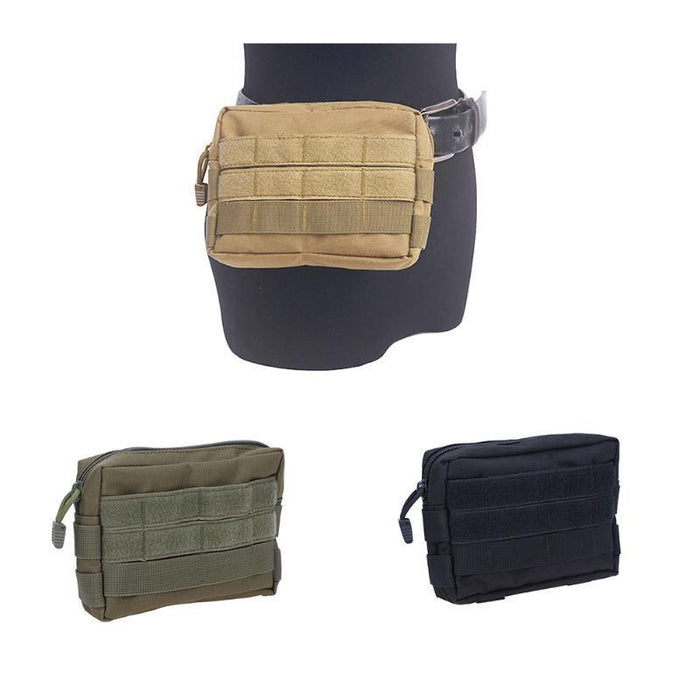 Tactical Bag Military Camouflage Pocket Outdoor Camping Hiking Phone Keys Holder Molle Pouch-Sport Bags-gigibaobao-Black Color-EpicWorldStore.com