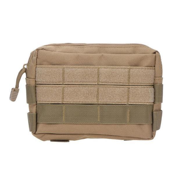Tactical Bag Military Camouflage Pocket Outdoor Camping Hiking Phone Keys Holder Molle Pouch-Sport Bags-gigibaobao-Khaki-EpicWorldStore.com