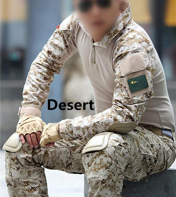 Tactical Military Uniform Jacket Army Of The Military Combat Uniform  Tactical Pants With Knee Pads