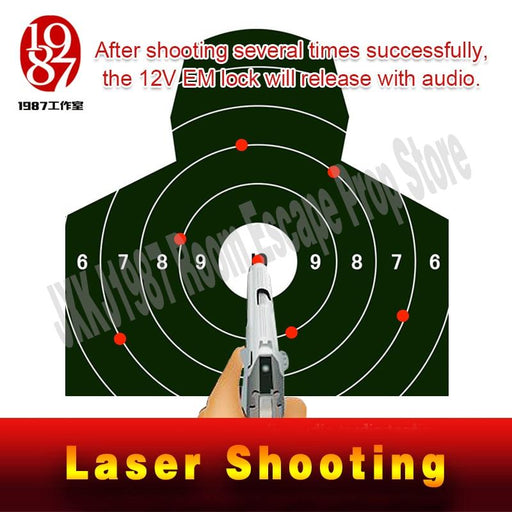 Takagism Game Prop Laser Shooting Game Electronicshooting The Laser Target To Open Lock Real Life-Escape Room Props-JXKJ1987 Room Escape Prop Store-with5 targets-EpicWorldStore.com