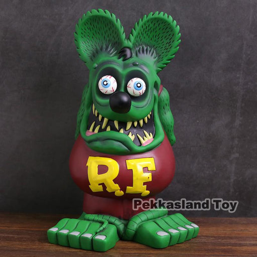 Tales Of The Rat Fink Super Big Size 32Cm Tall Rat Fink Pvc Statue Figure Collectible Model Toy-Action & Toy Figures-Deoxystoy Store-baged-EpicWorldStore.com