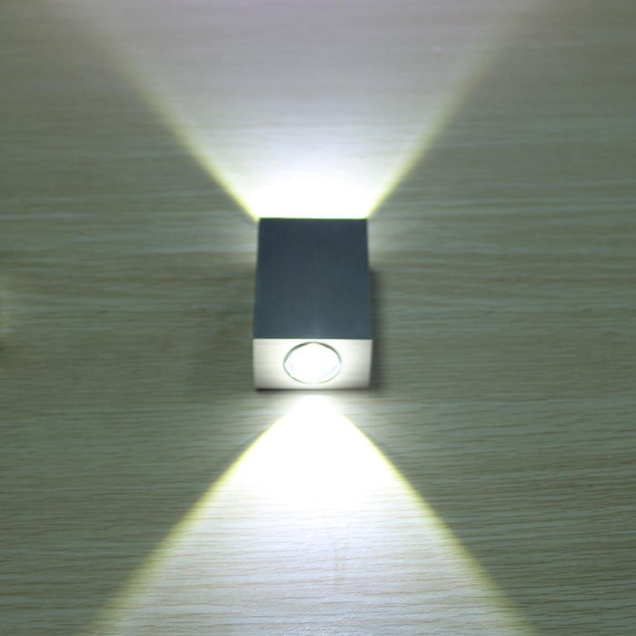 Tanbaby 2W Led Wall Lamp Square Spot Light Aluminm Modern Home Decoration For