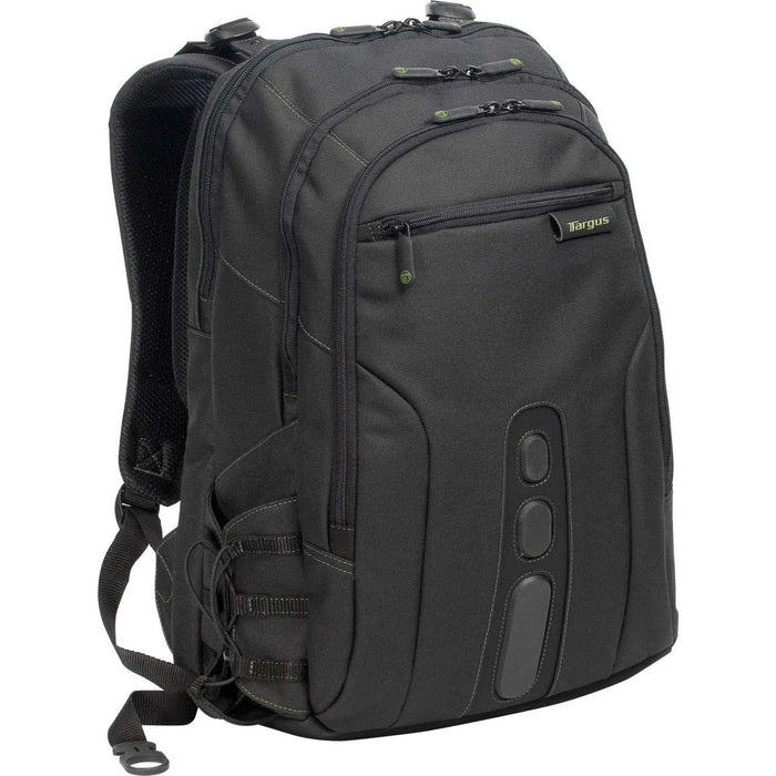 "Targus Ecosmart Tbb019Us Carrying Case (Backpack) For 17"" Notebook - Black, Green-Computers & Electronics-Targus-EpicWorldStore.com"