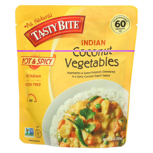 Tasty Bite Heat & Eat Indian Cuisine Entr?E - Hot & Spicy Coconut Vegetables - Case Of 6 - 10 Oz-Eco-Friendly Home & Grocery-Tasty Bite-EpicWorldStore.com