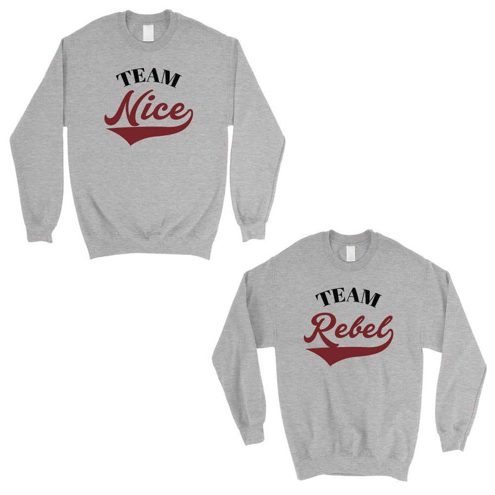 23b1b65c48 Team Nice Team Rebel Cute Christmas Sweatshirts Best Friends Gifts-Apparel  & Accessories-365