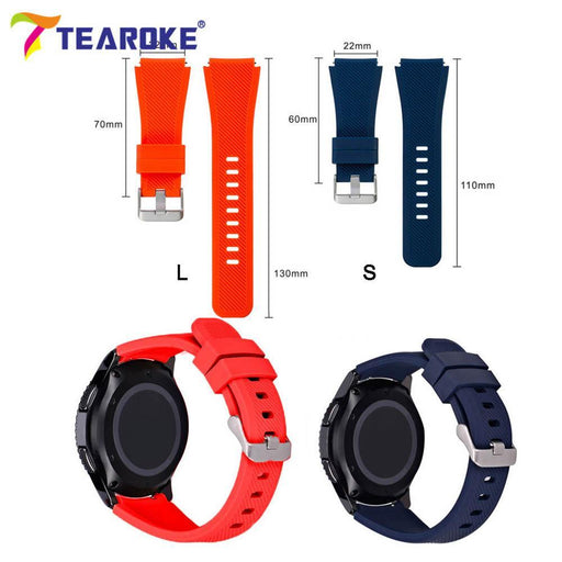 Tearoke 11 Color Silicone Watchband For Gear S3 Classic/ Frontier 22Mm Watch Band Strap-Watch Accessories-Tearoker Store-Black-20cm length-EpicWorldStore.com
