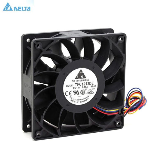 Tfc1212De Delta 120Mm Dc 12V 5200Rpm 252Cfm For Bitcoin Miner Powerful Server Case Axial Cooling Fan-Computer Components-Sensda Electronics store-EpicWorldStore.com