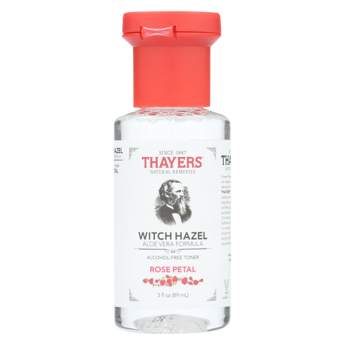 Thayers Witch Hazel - Rose Petal - Alcohol Free - Case Of 24 - 3 Fl Oz-Eco-Friendly Home & Grocery-Thayers-EpicWorldStore.com